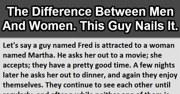 The Difference Between Men And Women This Is G-1757