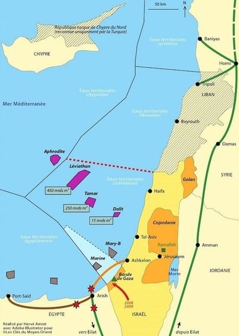 Carte De Lafrique Et Moyen Orient.Le Gaz En Mediterranee Orientale