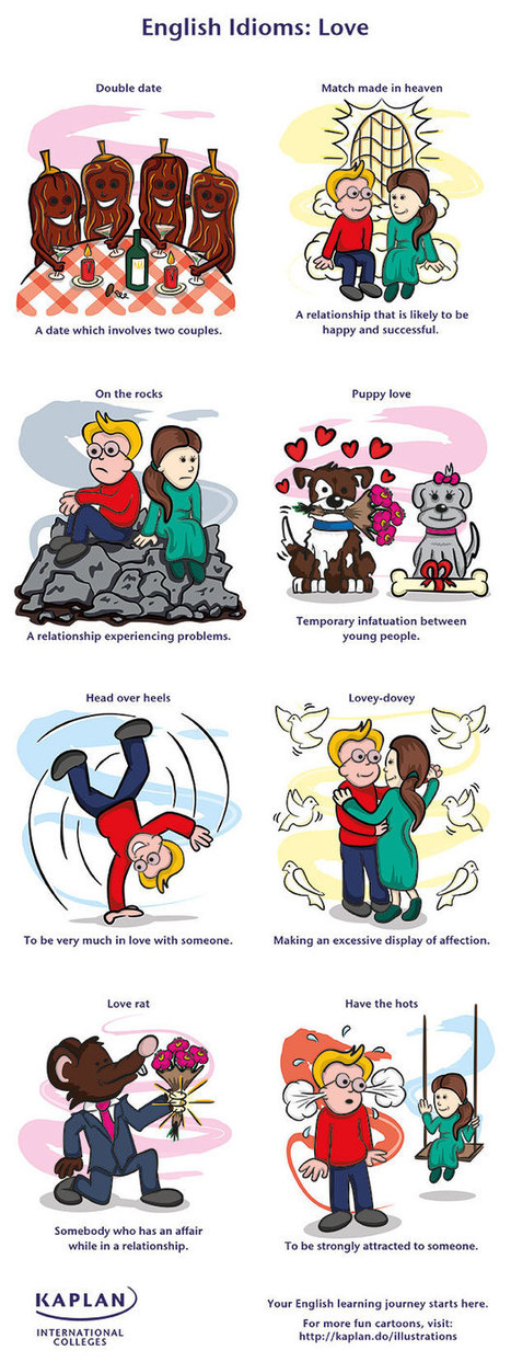 English Idioms: Love - Colleges Blog | Brainfriendly, motivating stuff for ESL EFL learners | Scoop.it