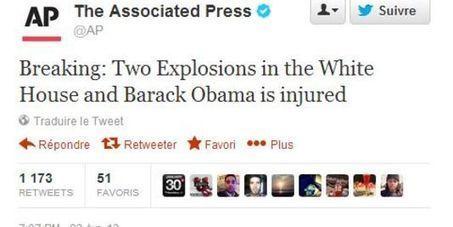 Le compte Twitter de l'agence Associated Press piraté, brève panique   DocPresseESJ   Scoop.it