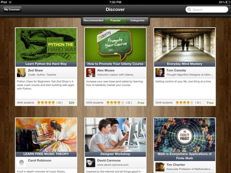 Udemy's new iPad app turns idle time into a learning opportunity | Apps for learning | Scoop.it