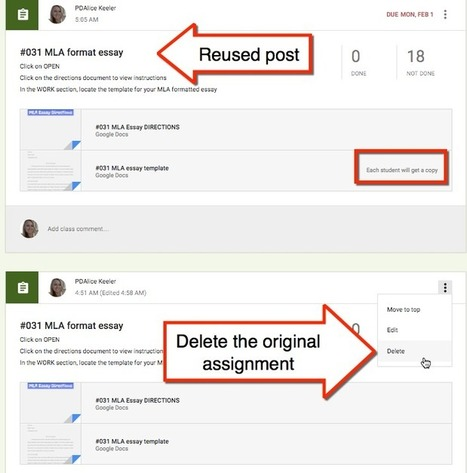 Google Classroom: OOPS, Fixing Assignments When You Forgot to Make Copies | Mr. Frerichs's EdTech | Scoop.it