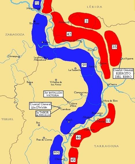 La Batalla del Ebro - Los Republicanos Cruzan el Río   Enciclopedia & Atlas   History & Maps   Scoop.it