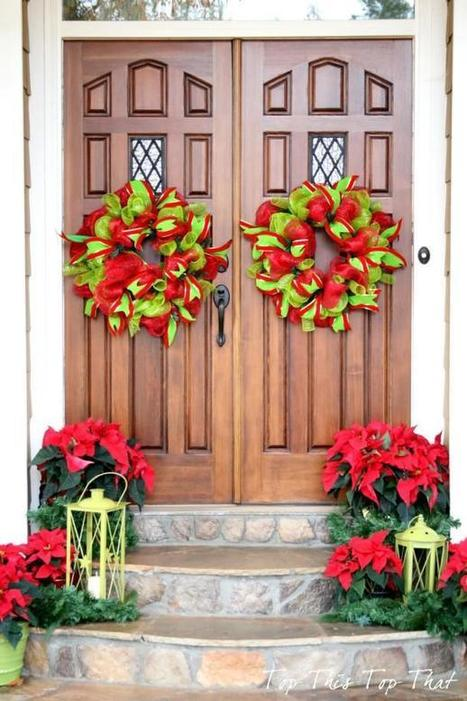 decorating christmas front door decorations ideas how to decorate your front door for christmas home decor for christmas 610x915 interior decorations for