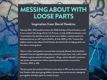 Messing About with Loose Parts | early childhood education and more | Scoop.it