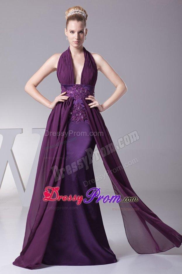 2355805ccfe Winter Purple Halter Cocktail Dresses