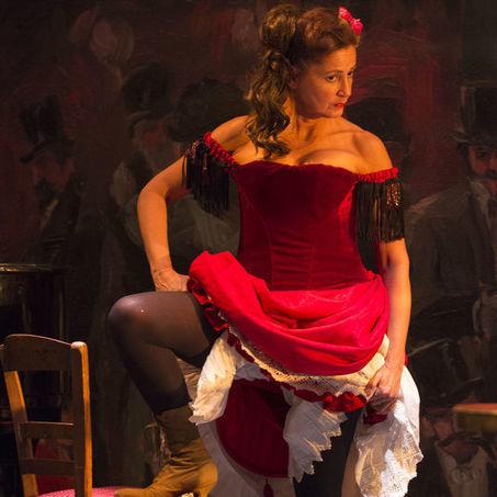 Mesdames meneur constamment en satin rouge costume cirque danseuse robe fantaisie