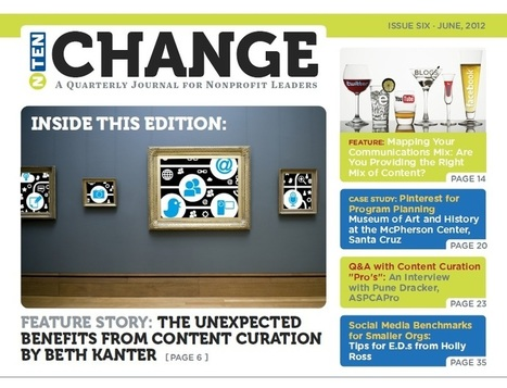 The Unanticipated Benefits of Content Curation - NTEN:Change's Content Curation Issue | Nonprofit Knowledge Sharing | Scoop.it