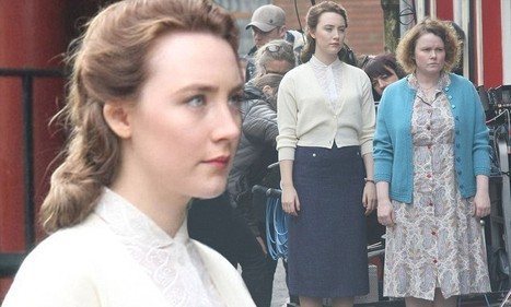 Saoirse Ronan arrives in period costume onto the Irish set of Brooklyn | Lectures interessants | Scoop.it