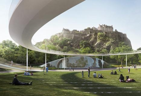Adjaye big sou fujimoto and 4 other teams reveal proposals for edinburghs ross pavilion