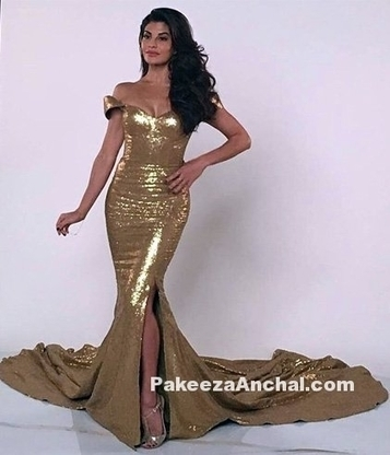 Jacqueline Fernandez in a Golden Mermaid Dress, #ActressInGoldenDresses, #ActressInGowns, #BollywoodActress, #BollywoodDesignerDresses, #CelebrityDresses, #DesignerWear, #EveningGowns, #Gowns, #Jac... | Indian Fashion Updates | Scoop.it