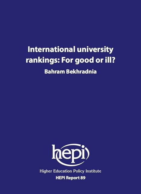 International university rankings: For good or ill? - HEPI | Higher education news for libraries and librarians | Scoop.it