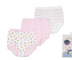 NEW Gerber Organic Cotton Training Pants 3-Pack Girls 3T Lot of 2 Packs Rainbows