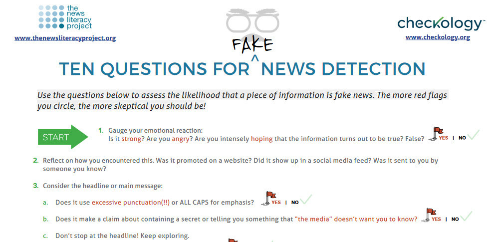 Ten Questions for 'Fake' News Detection | Eclec