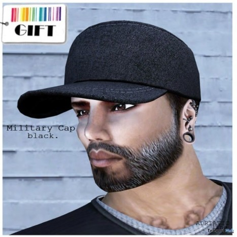 beb5695fa51 Military Cap Black Group Gift by ADRIATIC Line ...