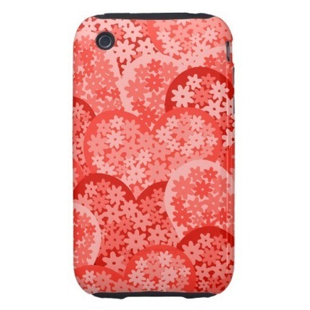 Red Hearts with flowers iPhone 3G/3GS Case-Mate Tough iPhone 3 Cases from Zazzle.com | Cute floral iPhone Cases | Scoop.it