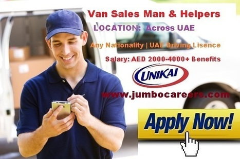 Van Sales Man & Helper Jobs in Dubai 2018 |