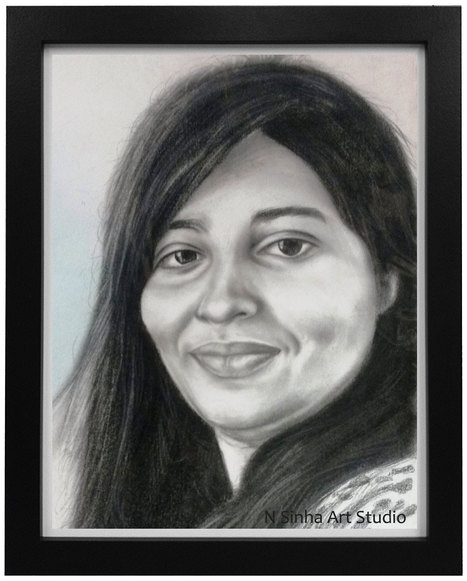 Pencil sketch portrait artist in noida 91 9958812195