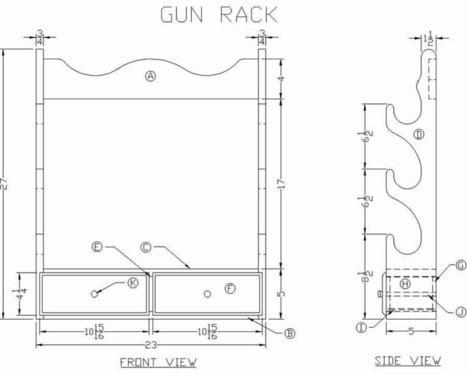 Diy Gun Cabinet Plans Plans Homemade Wood Desk