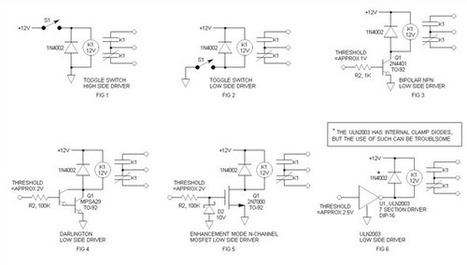 Relay Driver Circuit using IC ULN2003 and its W