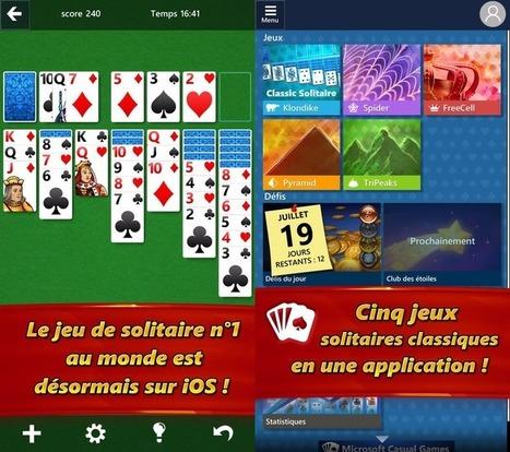 Microsoft propose le célèbre jeu Solitaire sur iPhone et iPad | Applications Iphone, Ipad, Android et avec un zeste de news | Scoop.it
