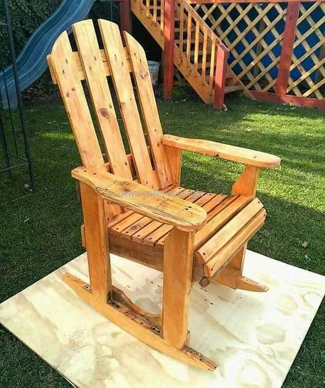 Wondrous Diy Wood Pallets Rocking Chair Plan Pallet Pr Gamerscity Chair Design For Home Gamerscityorg