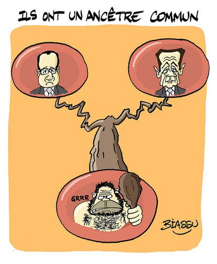 Généalogie : ils sont cousins ? | Le dessin d'actualité de Biassu | LYFtv - Lyon | Scoop.it