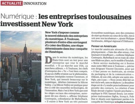Numérique : les entreprises toulousaines investissent New York | Technologies numériques et innovations | Scoop.it
