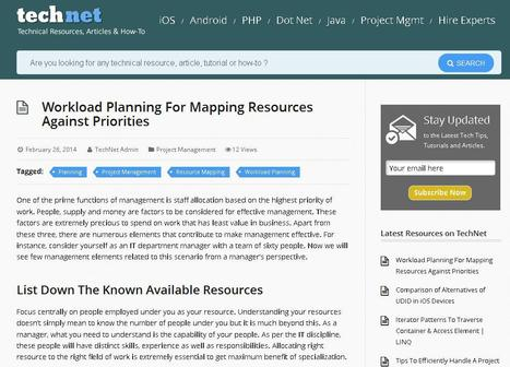 Workload Planning For Mapping Resources Against Priorities | Agile Project Management | Scoop.it