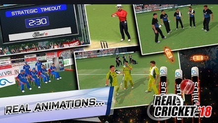 Real Cricket 18 APK Download by Nautilus Mobile
