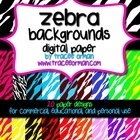 Zebra Backgrounds Digital Paper for Commercial Use | Clip Art for Commercial Use | Scoop.it