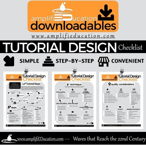 Tutorial Design Checklist (PDF) | Literacy Using Web 2.0 | Scoop.it