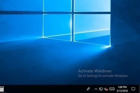 windows 10 education watermark removal
