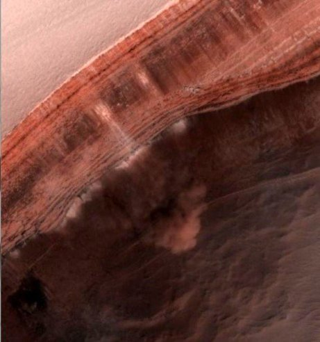New Avalanche in Action on Mars Captured by HiRISE | Physics | Scoop.it