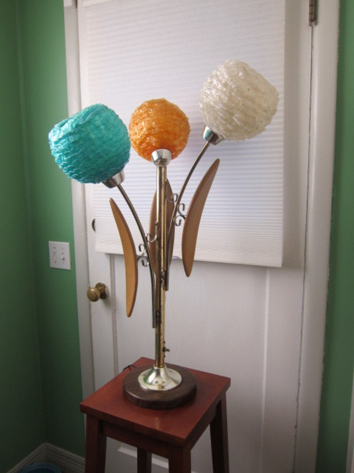 Three Globe Ribbon Lucite Lamp, Colorful | Antiques & Vintage Collectibles | Scoop.it