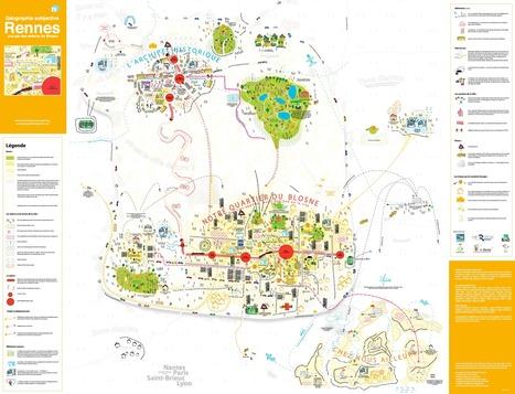 Carte : Rennes. La commune vue par ses habitants (Géographie subjective) | revue de johane | Scoop.it