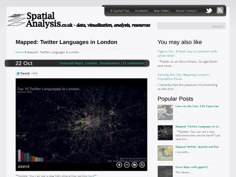 Mapped: Twitter Languages in London | IB Part 3: Global Interactions | Scoop.it