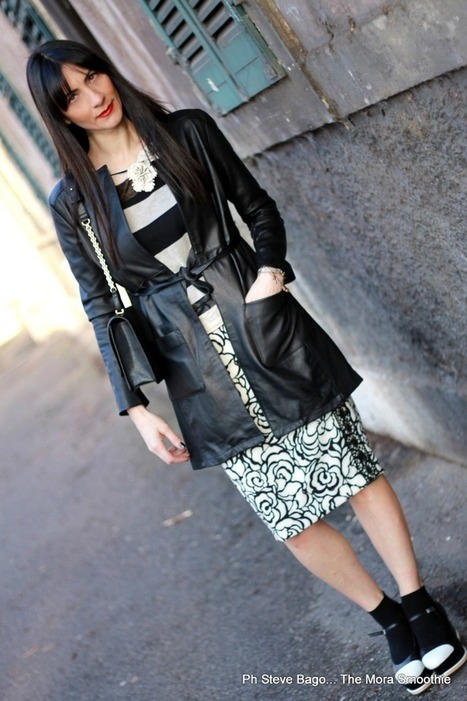 Roses, stripes in black and white! MFW outfit | Fashion DIY and more... | Scoop.it