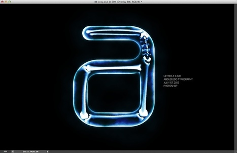 Create an Easy X-Ray Typography in Photoshop   Photoshop   Scoop.it