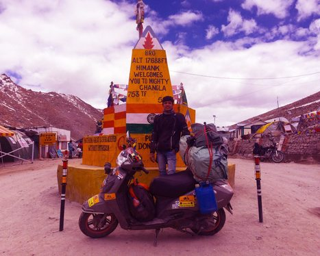 From Delhi to Leh-Ladakh on a 100cc scooter - A