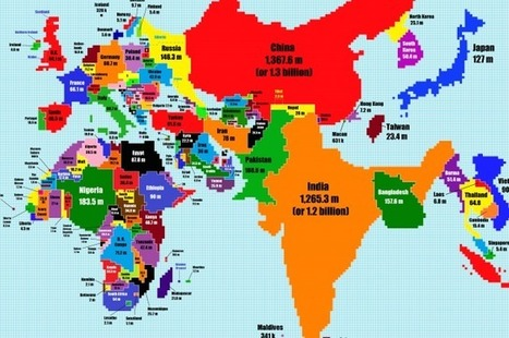 This Is What A World Map Looks Like When Scaled According To Population Size | IFLScience | Teaching Geography @BIS | Scoop.it