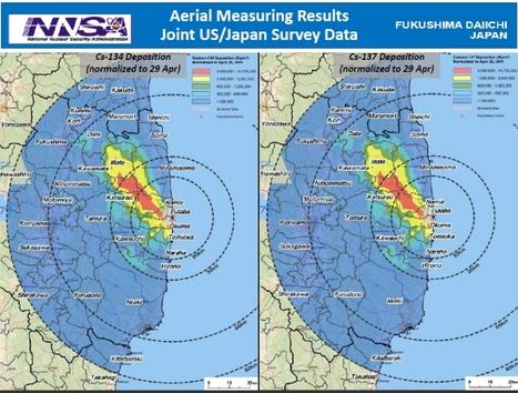 [Eng] La carte de radioactivité de la région de Fukushima par le Departement de l'Energie américain | Japon : séisme, tsunami & conséquences | Scoop.it