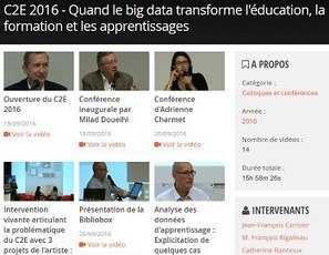 C2E 2016 : Quand le big data transforme l'éducation, la formation et les apprentissages | S-eL : semaine e-learning | Scoop.it