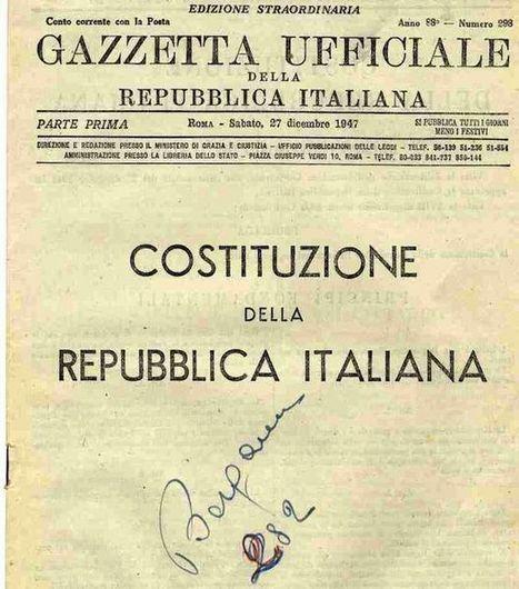L'Italia è cambiata, perché la Costituzione è sempre uguale? | Linkiesta.it | The Matteo Rossini Post | Scoop.it