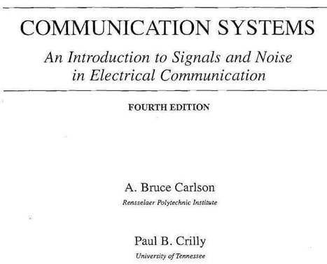 Communication systems solution manual 5th edition | bandwidth.