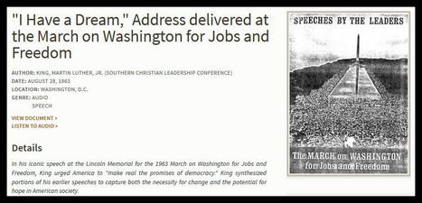 "AUDIO: ""I Have a Dream, Address at March on Washington for Jobs and Freedom"" 