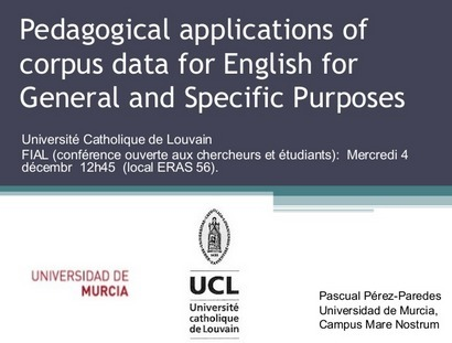 Pedagogical applications of corpus data for English for General and Specific Purposes | Applied linguistics and knowledge engineering | Scoop.it