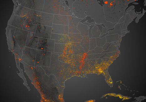 Continent on Fire: Map Shows 6 Months of Wildfires Burning North America - Wired | Geolocated | Scoop.it