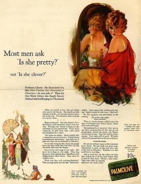 "1924-Most men ask ""Is she pretty?"" not ""Is she clever?"" 