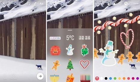 Instagram : les stickers arrivent dans les stories (lieu, température, heure, images...) - Blog du Modérateur | Culture numérique | Scoop.it
